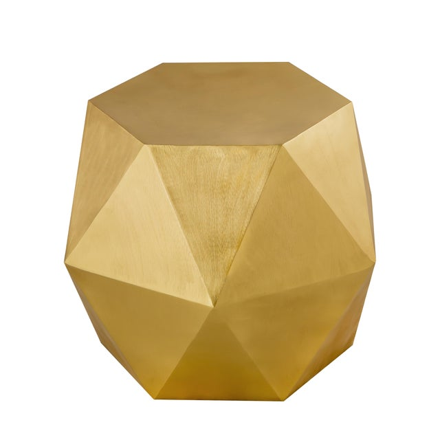 Modern Pasargad Home Lexi Side Table - Brass For Sale - Image 3 of 7