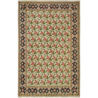 Mansour Original Handmade Persian Mashad Rug - 5′9″ × 7′10″ For Sale