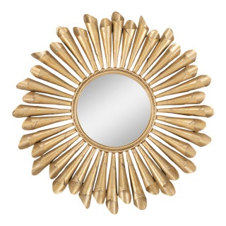 Metal Sunburst MIrror For Sale