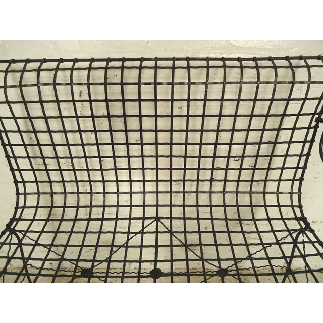 Mid-Century Modern Decorative Wrought Iron Bench For Sale - Image 3 of 7