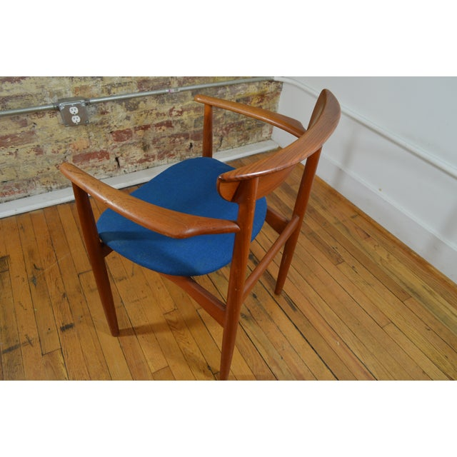 Peter Hvidt & Helge Molgaard Nielsen Danish Teak Arm Chair For Sale - Image 5 of 5