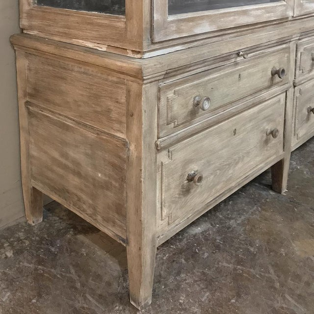 Gray Antique French Louis XVI Whitewashed Bookcase ~ Vitrine For Sale - Image 8 of 13