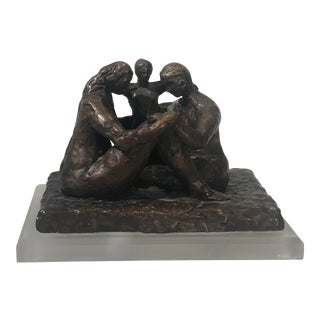 Bronze Sculpture in the Style of Henry Moore For Sale