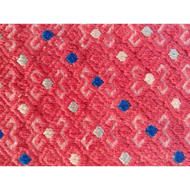 Asian Vintage Embroidered Wedding Quilt Fabric For Sale - Image 3 of 4