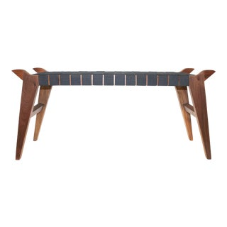 'Arvid the Long' Modern Wood & Webbing Bench