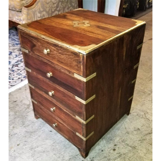 Campaign Campaign Style Mini Chest For Sale - Image 3 of 13