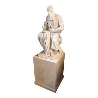 "Large Plaster Michelangelo ""Moses"" Sculpture"