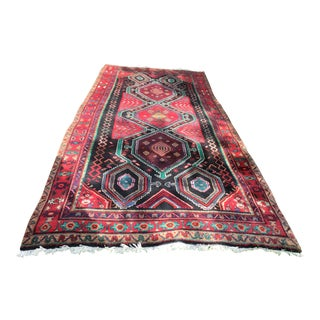 Early 20th Century Vintage Hamedan Persian Rug-4′10″ × 12′3″ For Sale