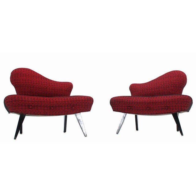 Pair of Fireside Slipper Chairs Fire Bird Shape For Sale - Image 9 of 10