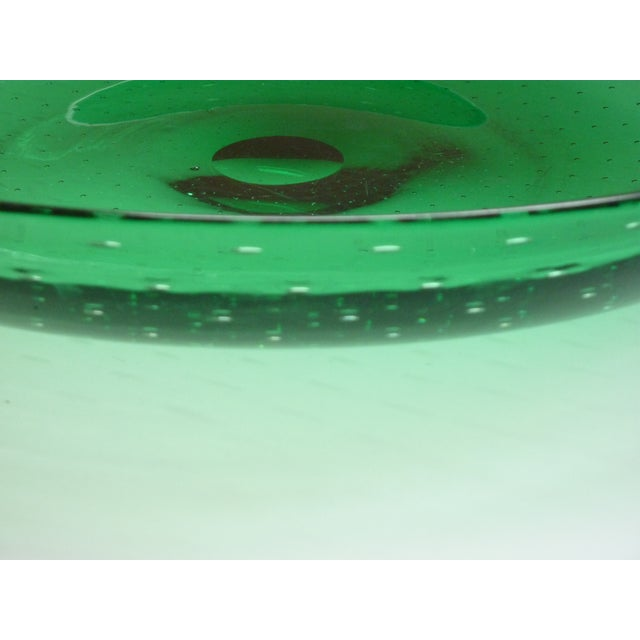 Mid 20th Century Green Blown Glass Bowl For Sale - Image 5 of 7