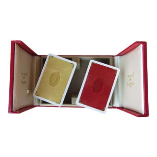 1970s Cartier Paris Vintage Playing Poker Cards For Sale