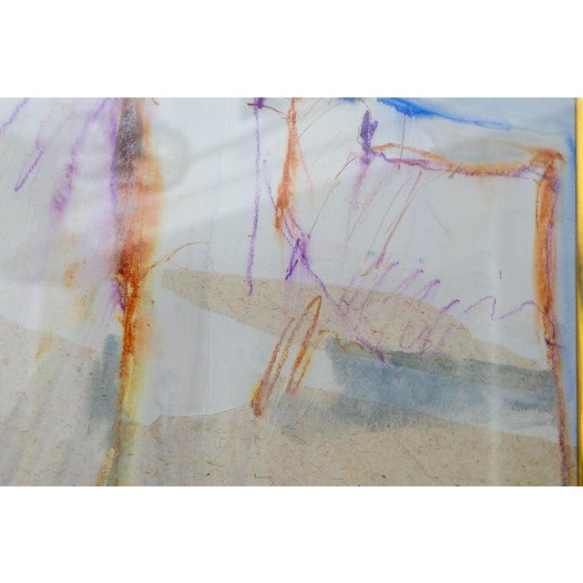 White Abstract Mixed Media Painting by American Artist Harold Larsen For Sale - Image 8 of 13