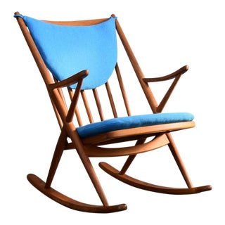 Restored Teak & Nanna Ditzel Hallingdal Danish Frank Reenskaug Rocker For Sale