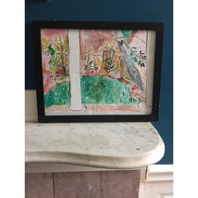 Contemporary Pen & Watercolor Painting - Image 2 of 6