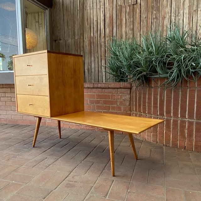 Mid-Century Modern Paul McCobb Planner Group by Winchendon Modular Cabinet and Bench For Sale - Image 12 of 13