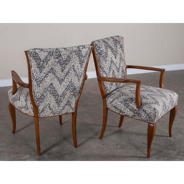 1940s Vintage French Art Deco Beechwood Chairs - a Pair For Sale - Image 9 of 11