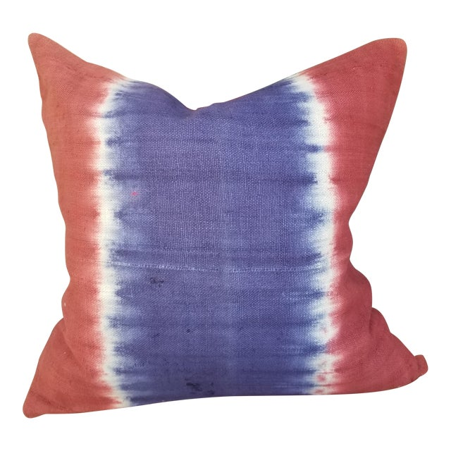 Hand Woven Tie Dye Pillow For Sale