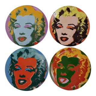 1990s Marilyn Monroe Plates by Andy Warhol - Set of 4 For Sale