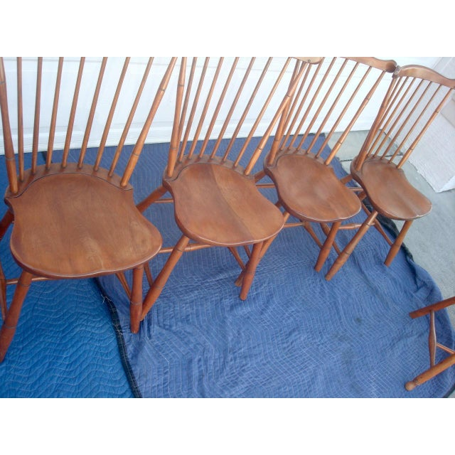 Stickley Windsor Back Dining Chairs - Set of 6 For Sale In Tampa - Image 6 of 11