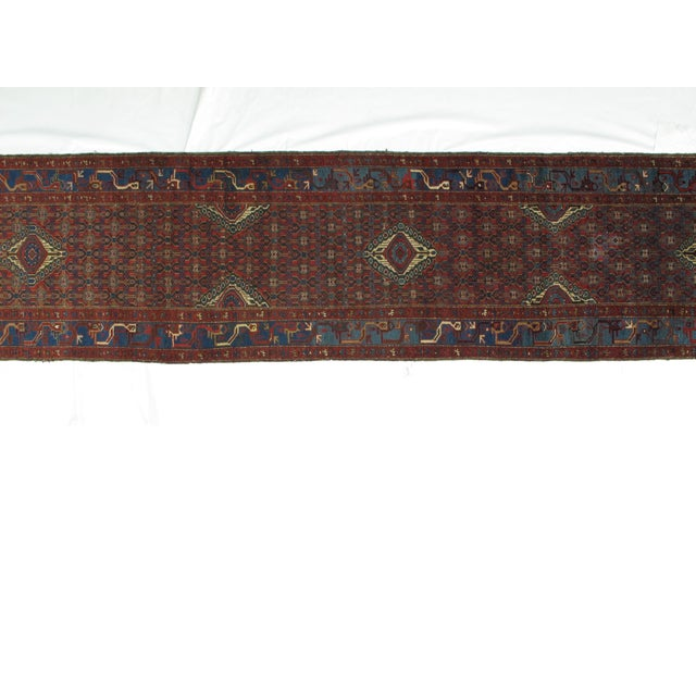 "Leon Banilivi Antique Malayer - 3'3"" X 16'10"" For Sale - Image 5 of 6"