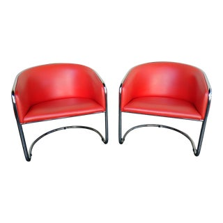 Vintage Mid Century Thonet Club Tub Chairs Designed by Joan Burgasser- A Pair For Sale