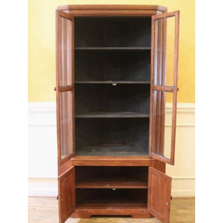 19th Century Country Pine and Oak Corner China Cabinet Preview