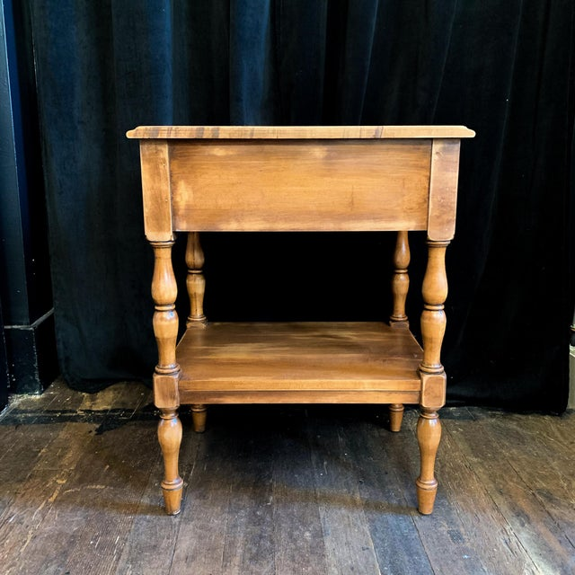 Cottage Nightstand Side Table For Sale - Image 4 of 5