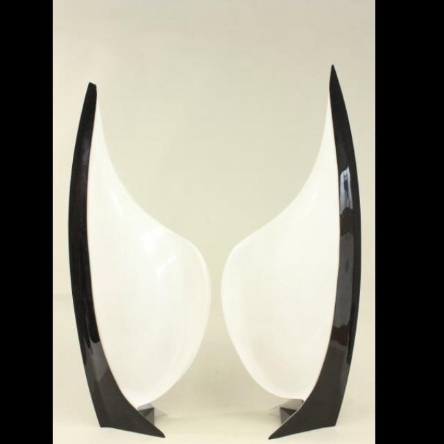 Large Rougier Lucite Sculptural Lamps - a Pair - Image 3 of 10