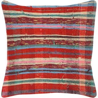 "1960s Turkish Hemp Pillow 23"" X 23"" For Sale"