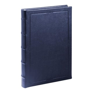 Small Hardcover Journal, Calfskin in Blue For Sale