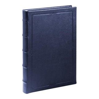 Small Hardcover Journal, Calfskin in Blue