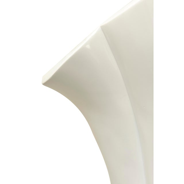 Resin Casa Bique White Lacquered Resin Torcheres - a Pair For Sale - Image 7 of 7