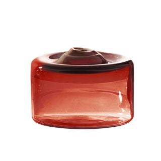 """SkLO Cylinder Glass Vessel 6"""" - Brick For Sale"""