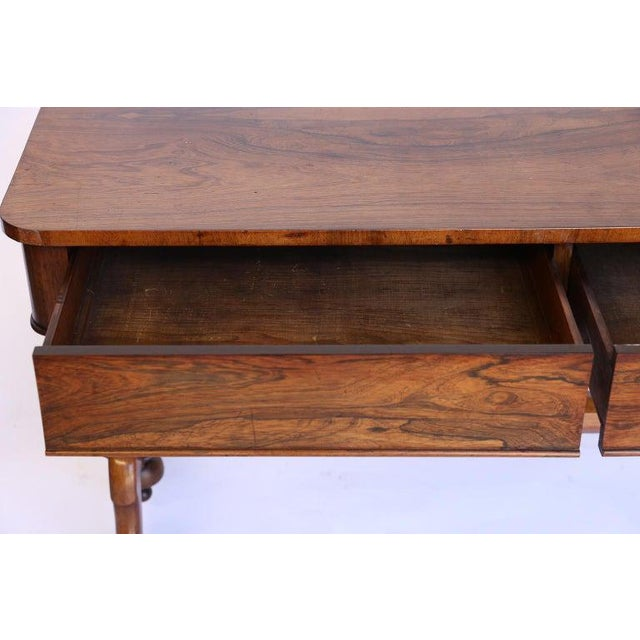 Antique English Console Table With Two Drawers For Sale In Houston - Image 6 of 13