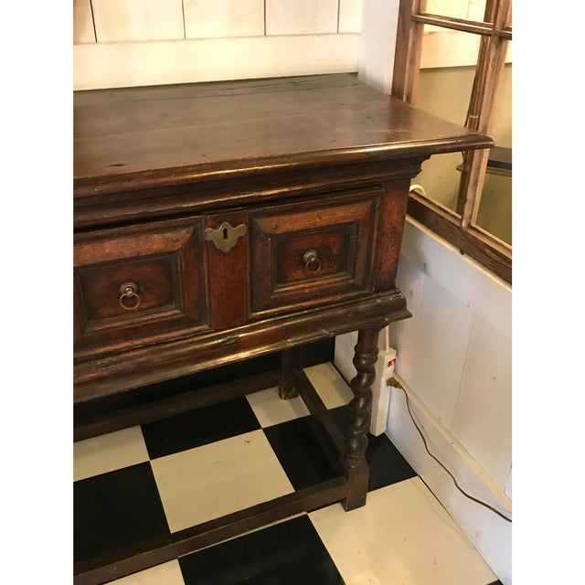 18th Century English Oak Dresser Base For Sale - Image 5 of 7