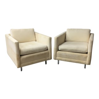 Mid-Century Modern Upholstered Lounge Chairs - A Pair For Sale