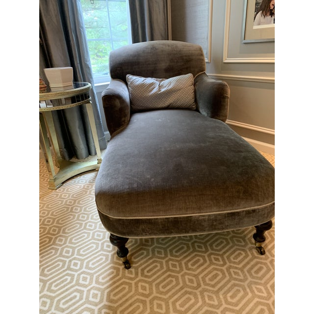 2010s Modern Gray Lee Industries Chaise For Sale - Image 5 of 7