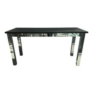 Contemporary Chrome Granite Top Console Table For Sale