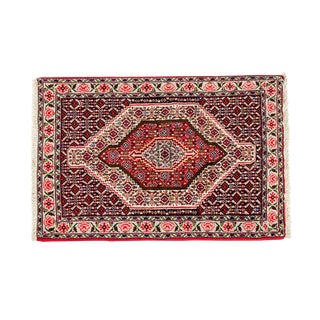 Vintage Persian Pure Wool Handwoven Area Rug - 2′6″ × 3′9″ For Sale