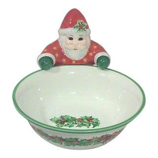 Christopher Radko Ceramic Santa Candy Dish
