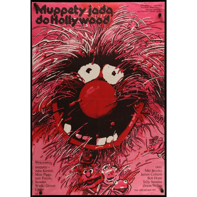 "Vintage Polish ""Muppet Movie"" Poster - Image 2 of 2"