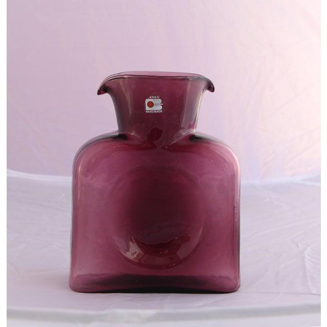 Blenko Glass Carafe Vase - Image 3 of 3