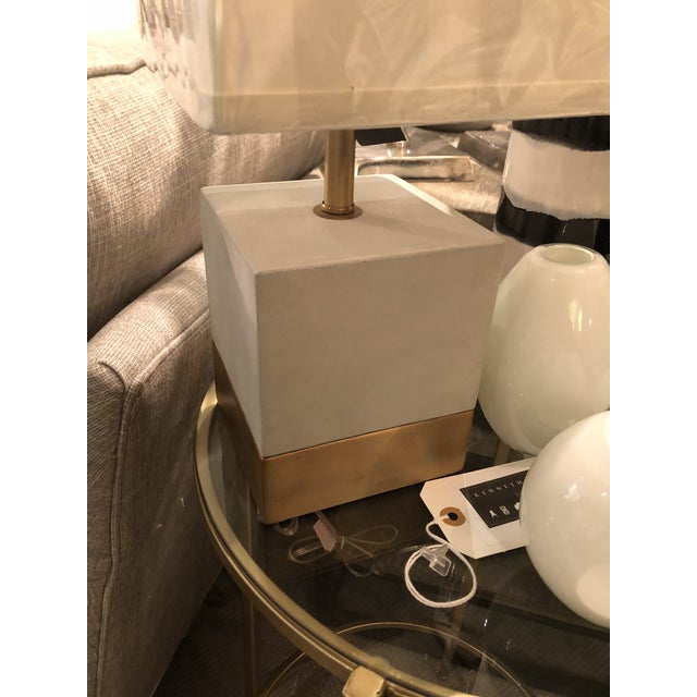 Contemporary Kenneth Ludwig Chicago Serena Concrete Lamp For Sale - Image 3 of 7