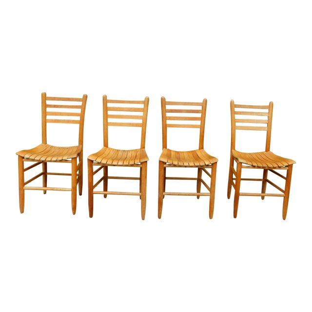Vintage Arthur Umanoff Style Farmhouse Chairs - Set of 4 For Sale