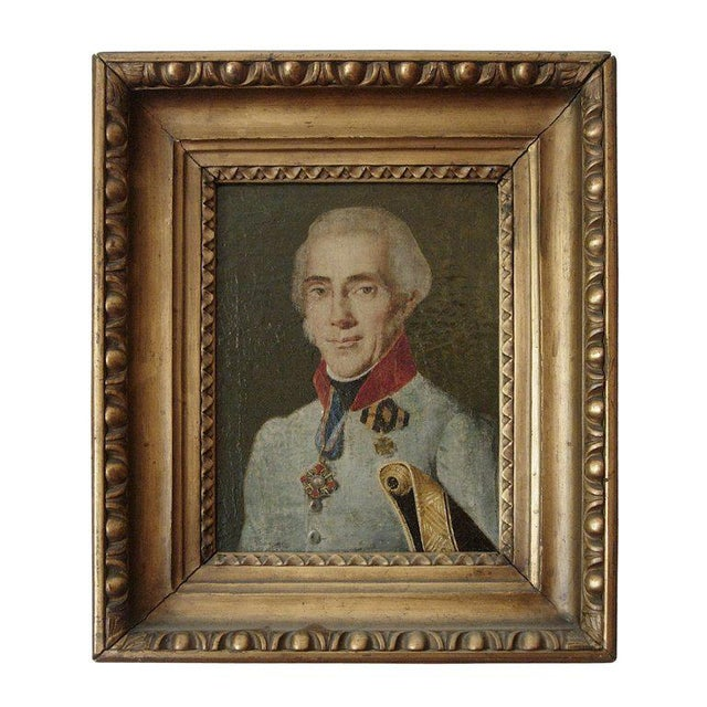 Portraiture 19th Century Portrait of a French Officer For Sale - Image 3 of 4