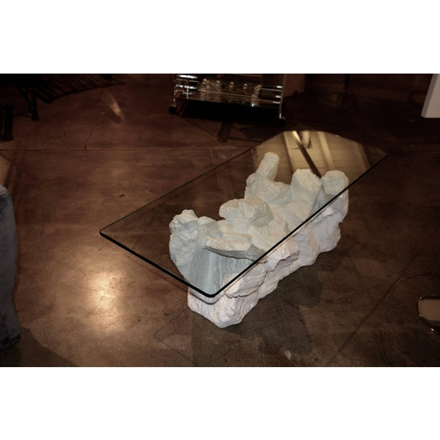 Plaster Sirmos Plaster Rock Quarry Coffee Table For Sale - Image 7 of 7