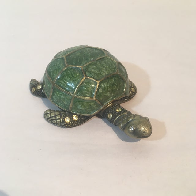 Brass & Green Turtle Votive Candle Holder - Image 2 of 9