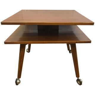 Swedish Dux Midcentury Two-Tiered Table For Sale