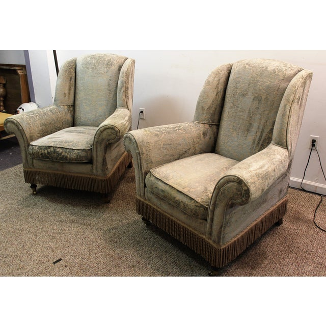 Drexel Heritage Lillian August Club Chairs - Pair - Image 2 of 11