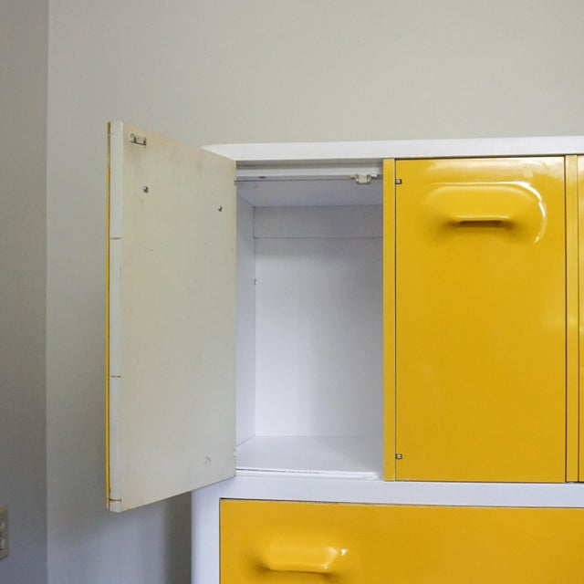 1970s 1970s Mid Century Modern Broyhill Premier Chapter One Yellow Armoir Dresser For Sale - Image 5 of 8